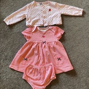 Little Me Baby girls 9 mo. Dress set